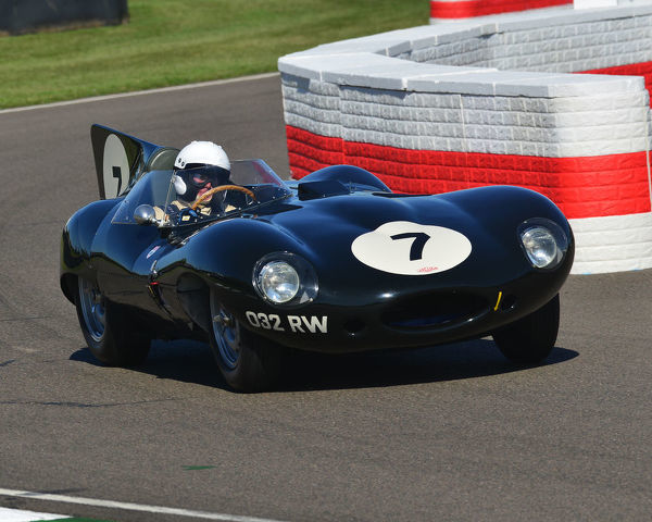Gary Pearson, Jaguar D-Type Long Nose, Sussex Trophy, World Championship sports cars, Production Sports racing cars, 1955 to 1960, Goodwood Revival 2019, September 2019, automobiles, cars, circuit racing, Classic, competition