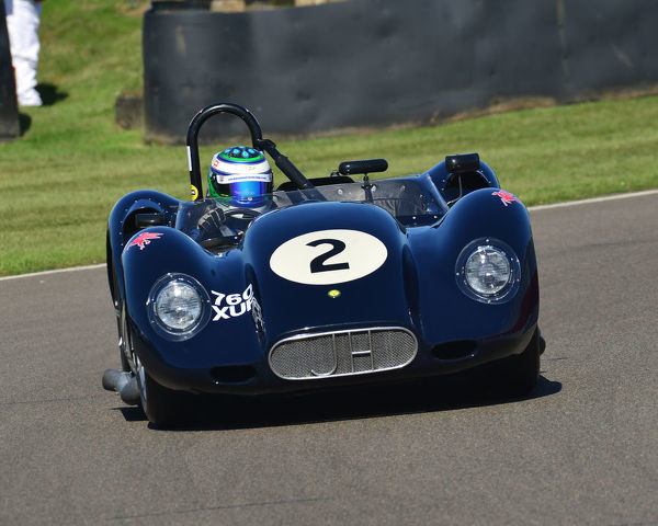 Nick Padmore, Lister Chevrolet Knobbly, Sussex Trophy, World Championship sports cars, Production Sports racing cars, 1955 to 1960, Goodwood Revival 2019, September 2019, automobiles, cars, circuit racing, Classic, competition