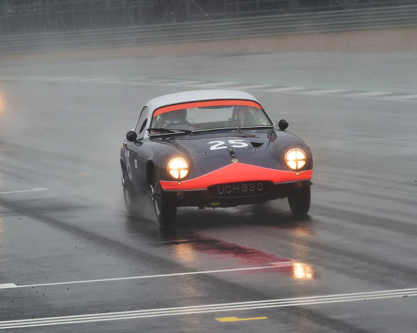 Sandy Watson, Martin O'Connell, Lotus Elite, Royal Automobile Club Tourist Trophy, for Historic cars, pre 63 GT, Silverstone Classic, Silverstone, Northamptonshire, circuit racing, cjm-photography, Classic Racing Cars, competition