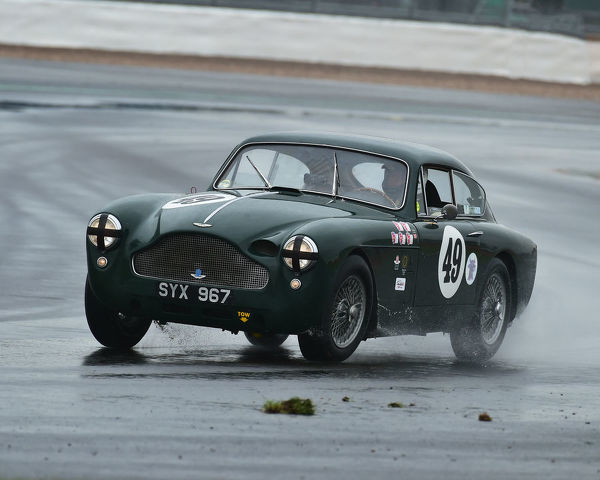 Chris Woodgate, Aston Martin DB3, Royal Automobile Club Tourist Trophy, for Historic cars, pre 63 GT, Silverstone Classic, Silverstone, Northamptonshire, circuit racing, cjm-photography, Classic Racing Cars, competition, England