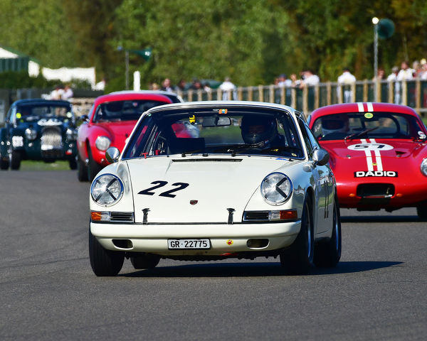 Karsten Le Blanc, Porsche 911, Fordwater Trophy, Road going sports and GT cars, 1960 to 1966, Goodwood Revival 2019, September 2019, automobiles, cars, circuit racing, Classic, competition, England, entertainment, event, Goodwood
