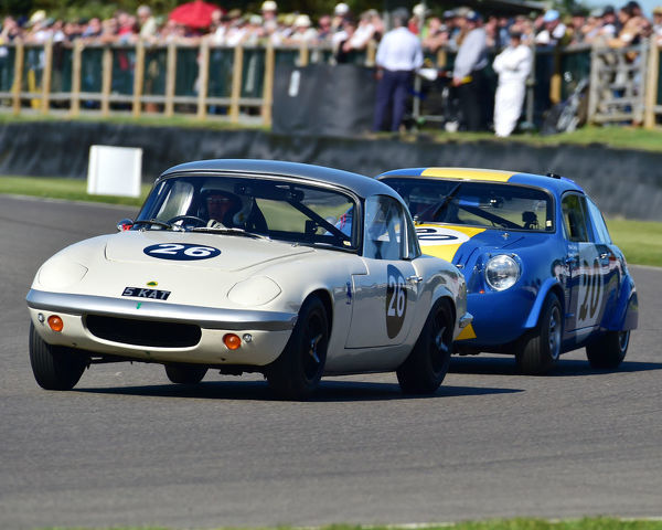 Robert Barrie, Lotus Elan S1, Fordwater Trophy, Road going sports and GT cars, 1960 to 1966, Goodwood Revival 2019, September 2019, automobiles, cars, circuit racing, Classic, competition, England, entertainment, event, Goodwood