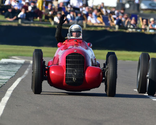 Julian Majzub, Alfa Romeo 308C, Goodwood Trophy, Grand Prix cars, Voiturette, 1930 to 1951, Goodwood Revival 2019, September 2019, automobiles, cars, circuit racing, Classic, competition, England, entertainment, event, Goodwood