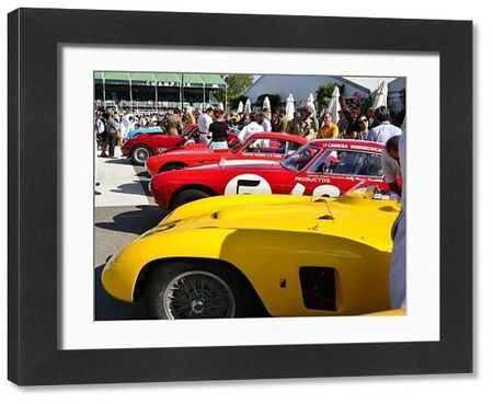 Ferrari's, Lavant Cup, Goodwood Revival 2015, 50's, 60's, 2015, Chris McEvoy, CJM Photography, classic cars, Fifties, Goodwood, Goodwood Revival, Goodwood Revival 2015, historic cars, Historic Racing, Lord March, nostalgia, revival, service bay