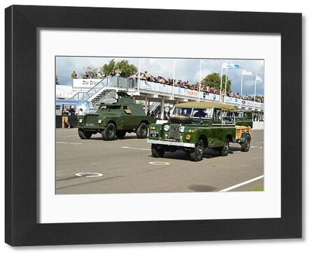 Armoured, Land Rover, Land Rover Parade, Goodwood Revival 2015, 4x4, Defender, Dunsfold collection, four by four, Goodwood, Goodwood Revival, Goodwood Revival 2015, Green Pea, Land Rover, Land Rover Parade, off road, revival