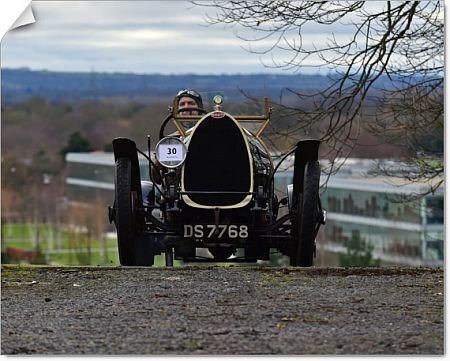 Edmund Burgess, Bugatti T13 Bresica, Vintage Sports Car Club, VSCC, New Year Driving Tests, Brooklands, Sunday, 28th January 2018, competition, Fun, historic cars, iconic, nostalgia, outdoors, pre-war, retro, saloon cars, sports, sports cars