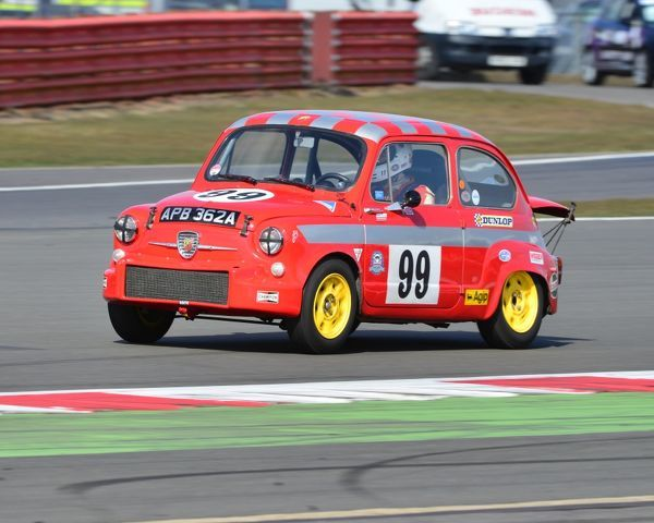Louise Kennedy, Jason Kennedy, FIAT 600 Abarth, APB 362 A, HRDC Touring Greats, Aston Martin Owners Club Racing, HRDC, AMOC Racing, Silverstone