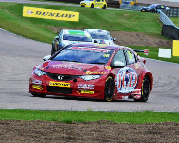 Martin Depper, Honda Civic, BTCC Rockingham Sept 2015, Autosport, British Touring Car Championship, BTCC, BTCC Rockingham Sept 2015, cars, England, motor sport, Northamptonshire, racing circuit racing, Rockingham, Rockingham Raceway, September 2015
