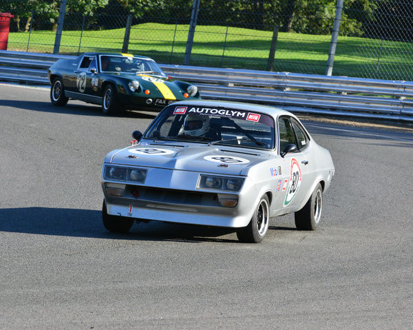 Gary Fletcher, Vauxhall Firenza, 70's Road Sports, HSCC Brands Hatch Indy Sept 2015, Chris McEvoy, circuit racing, CJM Photography, classic cars, England, historic cars, Historic Racing, Historic Road Sports Championship, Historic Sports Car Club