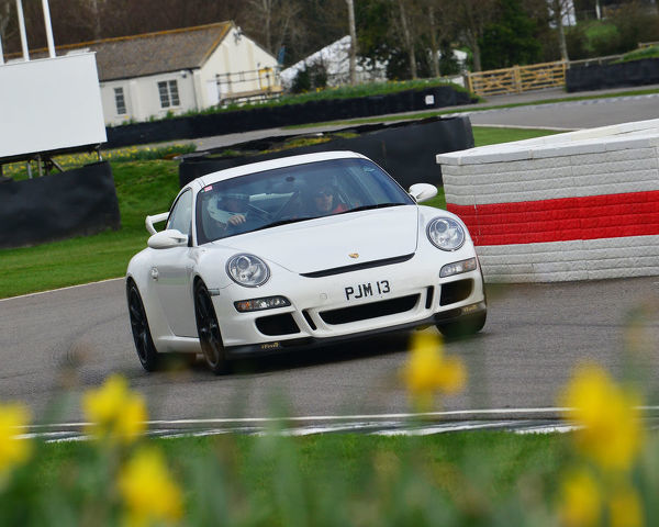 Paul Miller, Porsche 911 GT3 Club Sport, 7th Anniversary event, Mission Motorsport, Race, Retrain, Recover, The Forces Motorsport Charity, Goodwood, West Sussex, England, 2nd March 2017, fast cars, cars, vehicles, Track, racing cars
