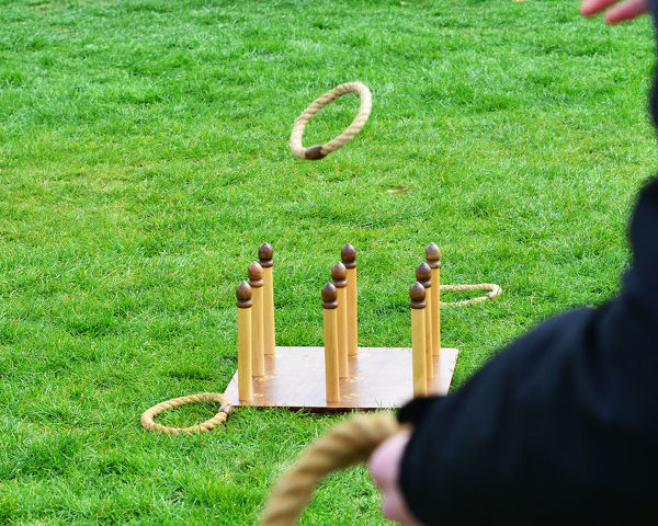 Quoits on the lawn, 77th Members Meeting, Goodwood, West Sussex, England, April 2019, Autosport, cars, circuit racing, classic cars, competition, England, fast, Fun, Goodwood, historic cars, leisure activity, Live Action, motor sport, nostalgia