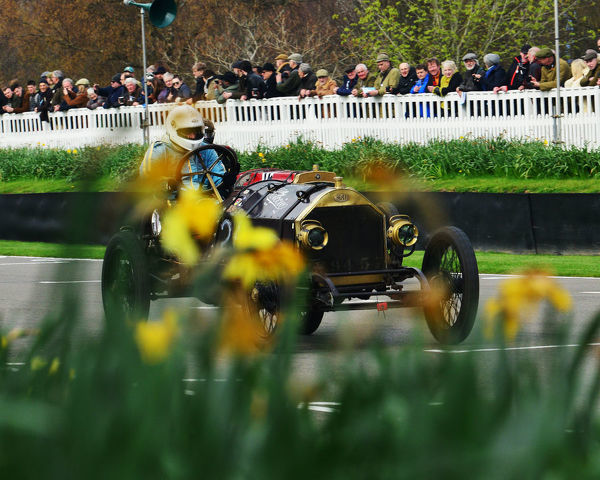 Andrew Howe-Davies, SCAT Type C Racer, Targa Florio,s F Edge Trophy, Edwardian Cars, 77th Members Meeting, Goodwood, West Sussex, England, April 2019, Autosport, cars, circuit racing, classic cars, competition, England, fast, Fun, Goodwood, historic cars