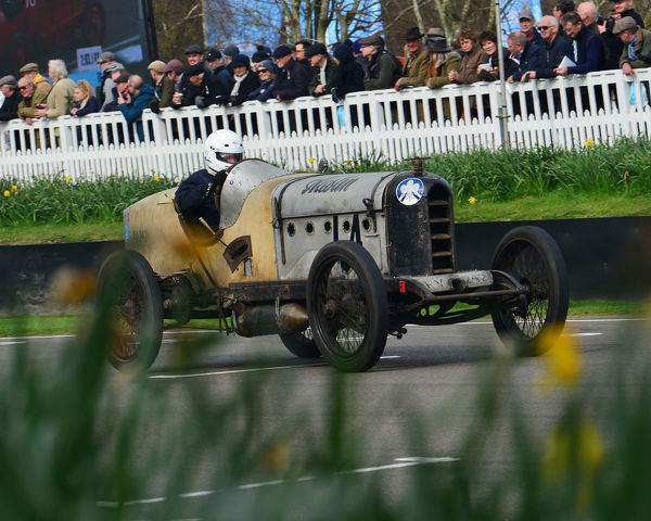Edward Way, Austin Hall Scott,s F Edge Trophy, Edwardian Cars, 77th Members Meeting, Goodwood, West Sussex, England, April 2019, Autosport, cars, circuit racing, classic cars, competition, England, fast, Fun, Goodwood, historic cars, leisure activity