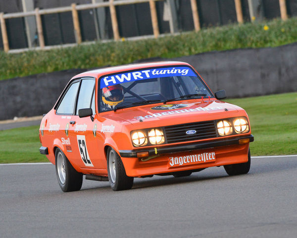 Karun Chandhok, Jason Minshaw, Ford Escort RS2000, Gerry Marshall Trophy, Group 1 Saloon cars, 1970 to 1982, 77th Members Meeting, Goodwood, West Sussex, England, April 2019, Autosport, cars, circuit racing, classic cars, competition