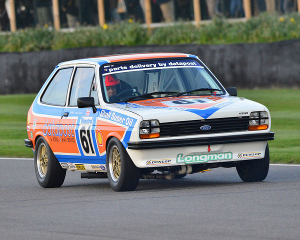 Simon Goodliff, Mark Roberts, Ford Fiesta, Gerry Marshall Trophy, Group 1 Saloon cars, 1970 to 1982, 77th Members Meeting, Goodwood, West Sussex, England, April 2019, Autosport, cars, circuit racing, classic cars, competition, England, fast