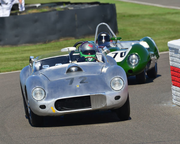 David Cooke, Cegga Ferrari 250 TR, Sussex Trophy, World Championship sports cars, Production Sports racing cars, 1955 to 1960, Goodwood Revival 2019, September 2019, automobiles, cars, circuit racing, Classic, competition, England