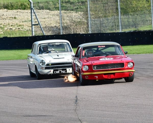 CM1 9573 Tim Davies, Ford Lotus Cortina, CNR 76 C, Neil Brown, Ford Mustang