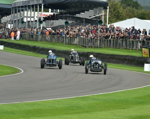 Charles Knill-Jones, Bugatti Type 59, leads two ERA's, Goodwood Trophy, Goodwood Revival 2015, 50's, 60's, 2015, Chris McEvoy, CJM Photography, classic cars, Fifties, Goodwood, Goodwood Revival, Goodwood Revival 2015, historic cars, Historic Racing