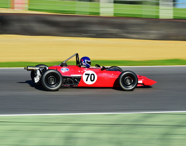 Daniel Stanzl, Elden Mk8, HSCC Brands Hatch Indy Sept 2015, Brands Hatch, Chris McEvoy, circuit racing, CJM Photography, classic cars, England, HFF, historic cars, Historic Formula Ford, Historic Racing, Historic Racing racing cars, Historic Sports Car Club