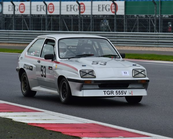 Martin Greaves, Vauxhall Chevette 2300HS, TGR 555 V, VSCC, Pomeroy trophy, Silverstone, 2016, cars, Chris McEvoy, cjm-photography, competition, February, Fun, historic cars, iconic, motor sport, motorsport, nostalgia, outdoors, Pomeroy trophy