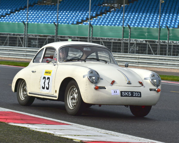 Sean Bramhall, Porsche 356, SKS 203, Pomeroy trophy, VSCC, Silverstone, 2016, cars, Chris McEvoy, cjm-photography, competition, February, Fun, historic cars, iconic, motor sport, motorsport, nostalgia, outdoors, pre-war, retro, saloon cars, sports