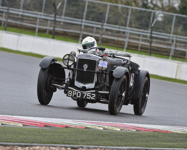 Margaret Diffey, Frazer Nash TT replica, BPO 752, Pomeroy trophy, VSCC, Silverstone, 2016, cars, Chris McEvoy, cjm-photography, competition, February, Fun, historic cars, iconic, motor sport, motorsport, nostalgia, outdoors, pre-war, retro, saloon cars