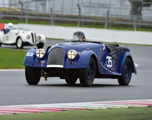 Edward Harvey, Morgan Plus 4, UUX 209, Pomeroy trophy, VSCC, Silverstone, 2016, cars, Chris McEvoy, cjm-photography, competition, February, Fun, historic cars, iconic, motor sport, motorsport, nostalgia, outdoors, pre-war, retro, saloon cars