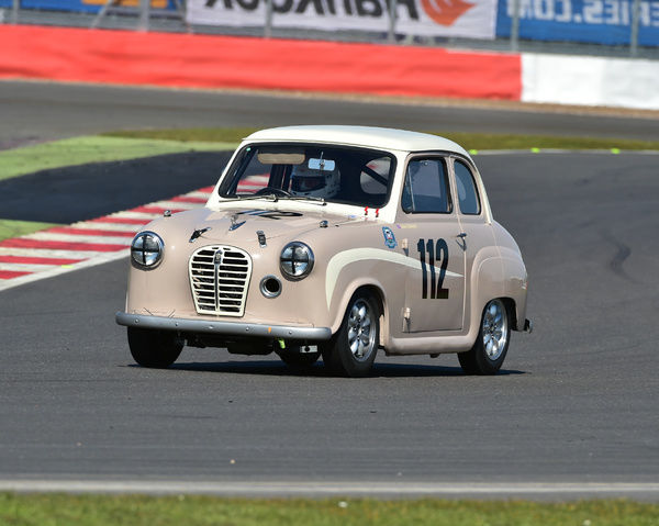 John Cleland, Austin A35 Academy, HRDC Coys Trophy, Silverstone, April 2016, circuit racing, Coys Trophy, Grand Prix Circuit, GT cars, Historic Racing, Historic Racing Drivers Club, Historic Sports Car Championship, HRDC, HRDC Coys Trophy, HRDC Silverstone