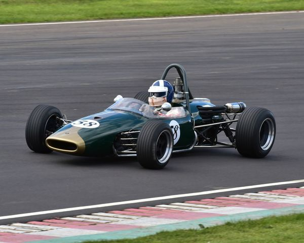 Ewen Sergison, Brabham BT21, Historic Formula 3, 50th Anniversary, HSCC, Historic Sports Car Club, Castle Combe, April 2016, Chris McEvoy, circuit racing, CJM Photography, classic cars, classic event, Classic Racing Cars, England, historic cars