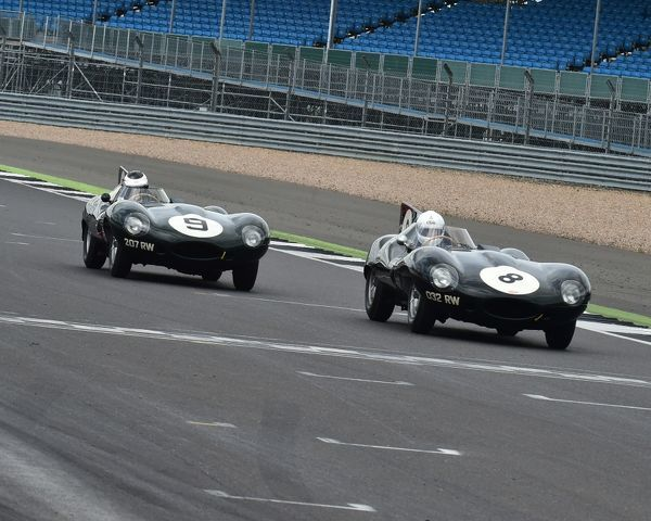 Gary Pearson, John Pearson, Jaguar D type, Ben Eastick, Karl Jones, Jaguar D type, RAC Woodcote Trophy, pre'56 Sports cars, Silverstone Classic 2016, Chris McEvoy, cjm-photography, Classic Racing Cars, historic racing cars, HSCC, motor racing
