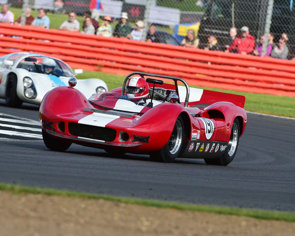 Roderick Smith, Jonathan Hoad, McLaren M1B, FIA, Masters Historic Sports Cars, Silverstone Classic 2016, 60's cars, Chris McEvoy, cjm-photography, Classic Racing Cars, historic racing cars, HSCC, motor racing, motorsport, Northamptonshire, nostalgia
