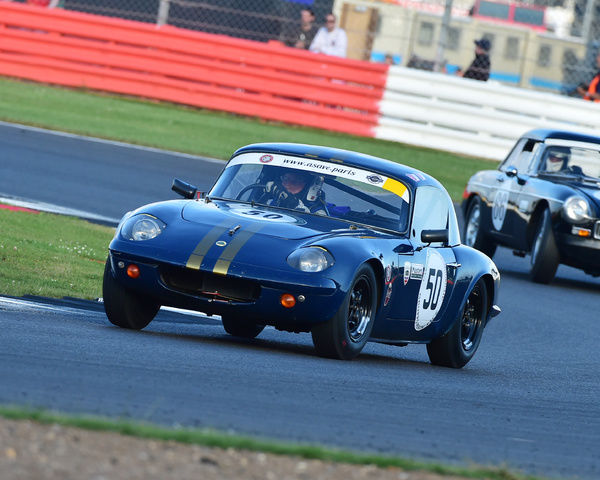 Richard Bateman, Roger Barton, Lotus Elan S2, International Trophy for Classic GT Cars, Pre'66, GT cars, Silverstone Classic 2016, Chris McEvoy, cjm-photography, Classic Racing Cars, historic racing cars, HSCC, motor racing, motorsport, Northamptonshire