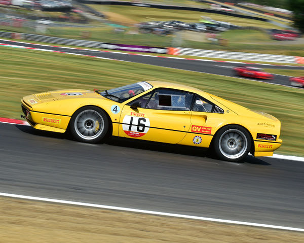 Richard Moseley, Ferrari 328 GTB, Ferrari Formula Classic, Festival Italia, Brands Hatch, Sunday 14th August, 2016, 2016, August 14th, Autosport, Brands Hatch, cars, circuit racing, competition, Ferrari, Ferrari Formula Classic, Festival Italia