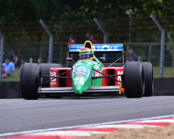 Benetton B190, Historic Race Car Demonstration, Festival Italia, Brands Hatch, August 14th, 2016, Autosport, cars, circuit racing, classic cars, competition, FIAT, Italian, Kent, motorsport, racing, racing cars, sport, sports cars, Sunday 14th August