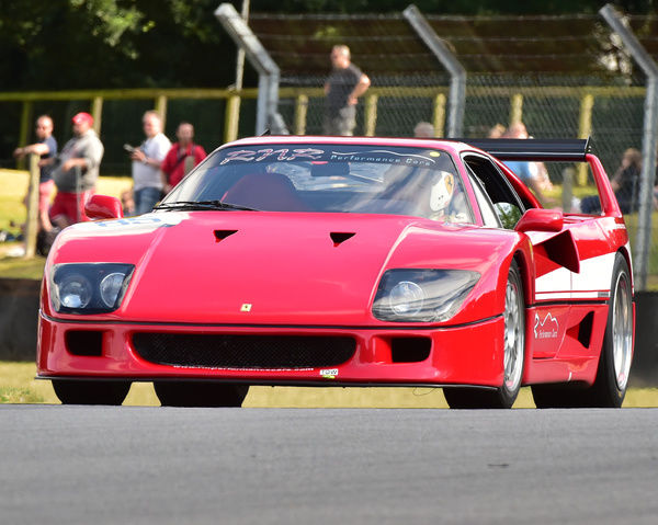 David Edge, Ferrari F40, Historic Race Car Demonstration, Festival Italia, Brands Hatch, August 14th, 2016, Autosport, cars, circuit racing, classic cars, competition, FIAT, Italian, Kent, motorsport, racing, racing cars, sport, sports cars