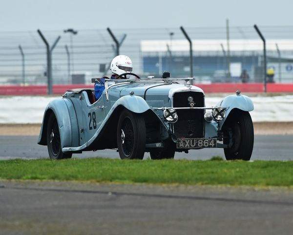 Richard Wadman, Alvis Speed 20 VDP Tourer, VSCC, Pomeroy Trophy, Silverstone, 18th February 2017, 2017, cars, Chris McEvoy, cjm-photography, competition, February, Fun, historic cars, iconic, motor sport, motorsport, nostalgia, outdoors, Pomeroy trophy