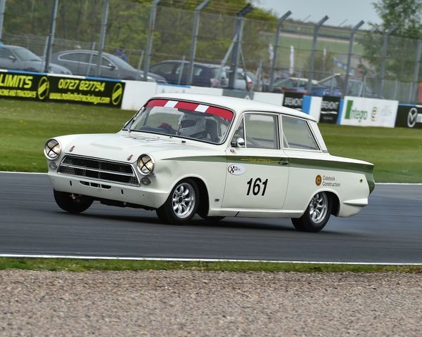 Alan Letts, Geoffrey Letts, Ford Lotus Cortina, U2TC Trophy, pre-66 under 2 litre touring cars, Donington Historic Festival, 2017, motor racing, motor sport, motorsport, Nostalgia, racing, racing cars, retro, cars, classic cars
