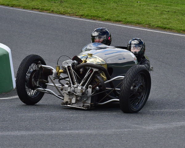 Bill Tuer, Maggie Tuer, JAP 8/80, Morgan Three Wheeler Club Challenge Trophy Race, VSCC, Formula Vintage, Round 4, Mallory Park, 12th August 2017, Chris McEvoy, circuit racing, CJM Photography, classic cars, historic cars, historic motorsport