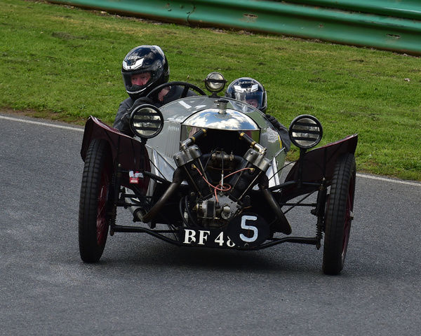 Steve Lister, Ruth Ross, Morgan, Aero Blackburne, Morgan Three Wheeler Club Challenge Trophy Race, VSCC, Formula Vintage, Round 4, Mallory Park, 12th August 2017, Chris McEvoy, circuit racing, CJM Photography, classic cars, historic cars