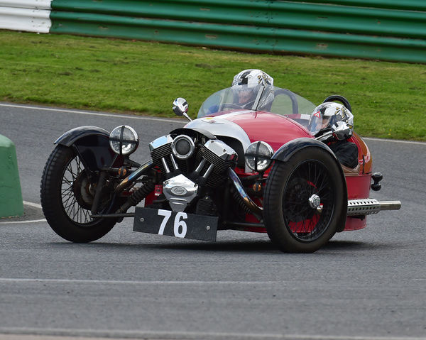 John Scruton, Jackie Scruton, S&S M3W, Morgan Three Wheeler Club Challenge Trophy Race, VSCC, Formula Vintage, Round 4, Mallory Park, 12th August 2017, Chris McEvoy, circuit racing, CJM Photography, classic cars, historic cars, historic motorsport