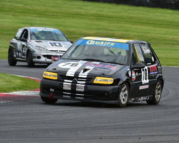 Steve Everson, Citroen Saxo, Quaife, Cannon, Tin Tops Championship, Deutsche Fest, Brands Hatch, August, 2017, Autosport, cars, circuit racing, cars, competition, German Cars, teutonic, Kent, motorsport, racing, racing cars, sport, sports cars