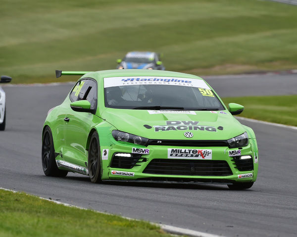 Darelle Wilson, VW Scirocco, Volkswagen Racing Cup, VW, Deutsche Fest, Brands Hatch, August, 2017, Autosport, cars, circuit racing, cars, competition, German Cars, teutonic, Kent, motorsport, racing, racing cars, sport, sports cars, Sunday 20th August