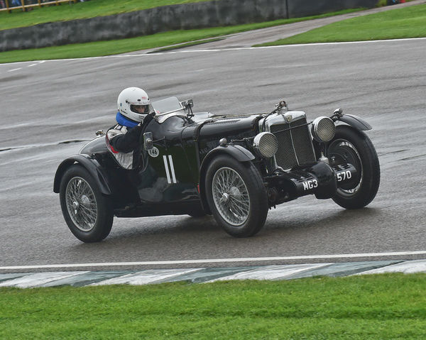 Andrew Taylor, MG K3, Brooklands Trophy, Sports cars, pre-1939, Goodwood Revival 2017, September 2017, automobiles, cars, circuit racing, Classic, competition, England, entertainment, event, Goodwood, Goodwood Revival 2017, heritage, historic