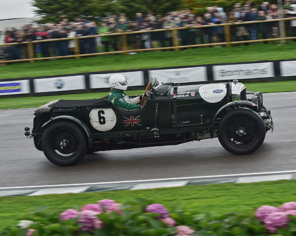 Martin Overington, Bentley 4? blower, Brooklands Trophy, Sports cars, pre-1939, Goodwood Revival 2017, September 2017, automobiles, cars, circuit racing, Classic, competition, England, entertainment, event, Goodwood, Goodwood Revival 2017, heritag