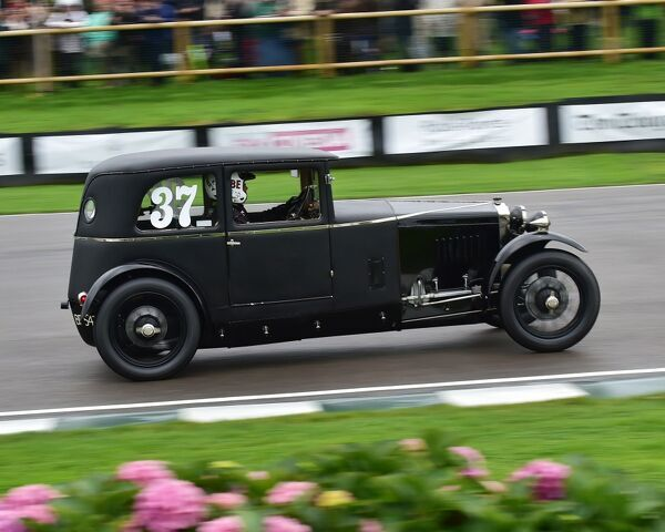 Patrick Blakeney-Edwards, Frazer Nash Saloon, Owlett, Brooklands Trophy, Sports cars, pre-1939, Goodwood Revival 2017, September 2017, automobiles, cars, circuit racing, Classic, competition, England, entertainment, event, Goodwood, Goodwood Revival 2017