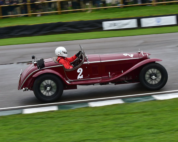 Niklas Halusa, Alfa Romeo 8C 2300 MM, Brooklands Trophy, Sports cars, pre-1939, Goodwood Revival 2017, September 2017, automobiles, cars, circuit racing, Classic, competition, England, entertainment, event, Goodwood, Goodwood Revival 2017, heritage