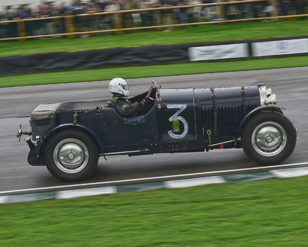 Mike Preston, Bugatti Type 50, Brooklands Trophy, Sports cars, pre-1939, Goodwood Revival 2017, September 2017, automobiles, cars, circuit racing, Classic, competition, England, entertainment, event, Goodwood, Goodwood Revival 2017, heritage