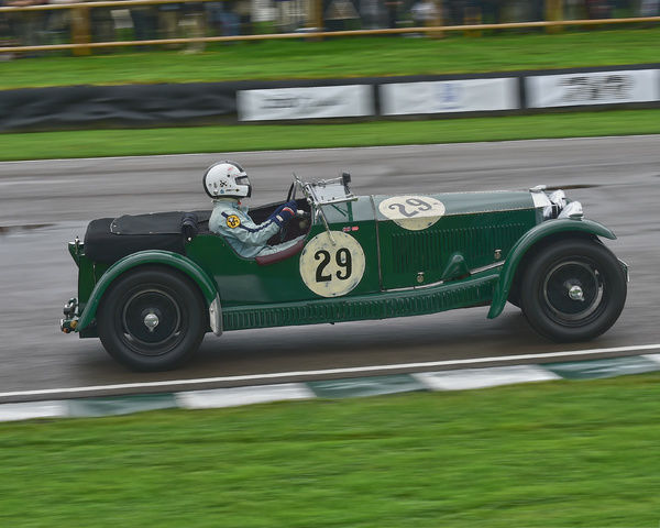 Peter Bradfield, Invictas Type, Brooklands Trophy, Sports cars, pre-1939, Goodwood Revival 2017, September 2017, automobiles, cars, circuit racing, Classic, competition, England, entertainment, event, Goodwood, Goodwood Revival 2017, heritage