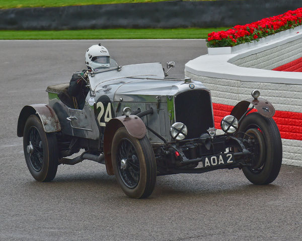Robert Fellowes, Vauxhall 30/98 Brooklands Special, Brooklands Trophy, Sports cars, pre-1939, Goodwood Revival 2017, September 2017, automobiles, cars, circuit racing, Classic, competition, England, entertainment, event, Goodwood, Goodwood Revival 2017