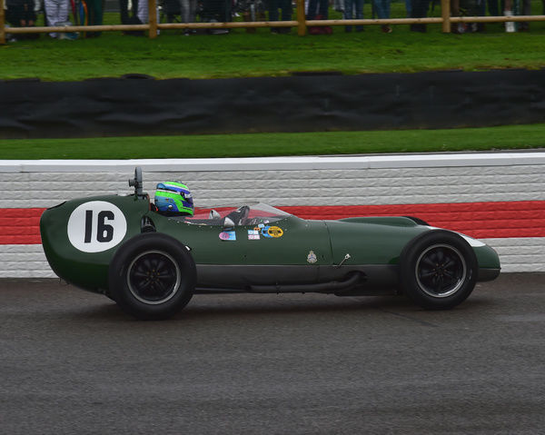 Nick Padmore, Lotus Climax 16, Richmond Trophy, Front engined Grand Prix cars, Formula Libre, Goodwood Revival 2017, September 2017, automobiles, cars, circuit racing, Classic, competition, England, entertainment, event, Goodwood, Goodwood Revival 2017